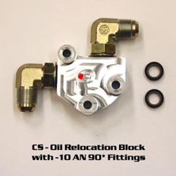 Oil Relocation Block, SR20 (w/Straight fittings)